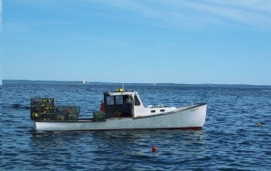 Pappy's lobster boat, age 12-15